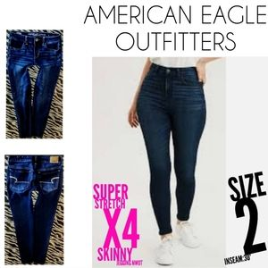 American Eagle Jeans Size 2 Skinny Super Stretch